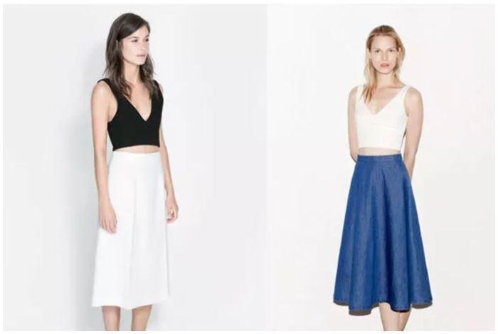 faldas estilo lady zara
